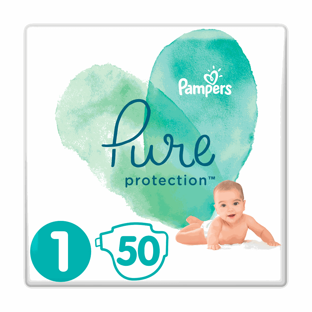 178903 pampers   pure protection no1  2 5kg    50       8001090834720