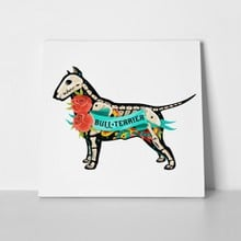 Art skeleton bull terrier dog 355266800 01 a