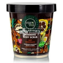 Organic Shop Body Desserts Warming Body Scrub Hot Chocolate - Θερμαντικό απολεπιστικό σώματος, 450ml