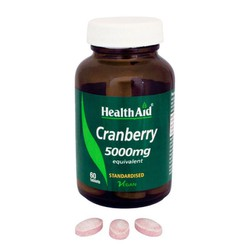 Health Aid Cranberry 5000mg 60veg.tabs