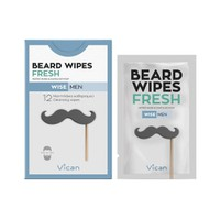 VICAN WISE MEN BEARD WIPES FRESH (12ΤΕΜ)