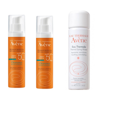 Avene Sun Cleanance Solaire SPF50+ Ματ Αποτέλεσμα, 2x50ml + Δώρο Avene Eau Thermale Spring Water 50ml