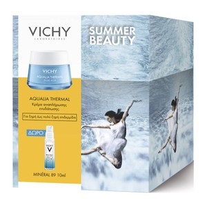 VICHY Aqualia thermal rich cream promo pack & ΔΩΡΟ Mineral 89 10ml