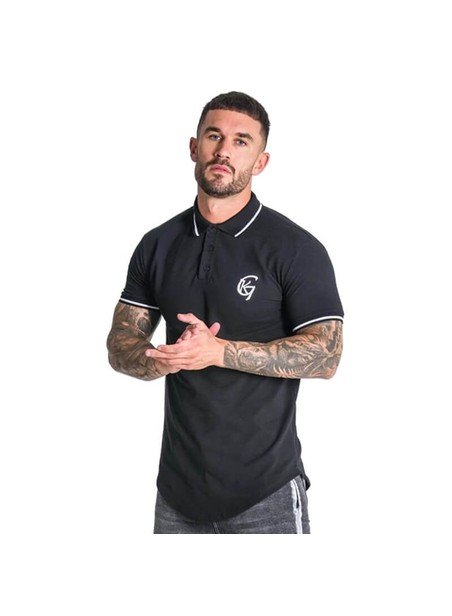 Gianni Kavanagh Black Polo With Contrast Details