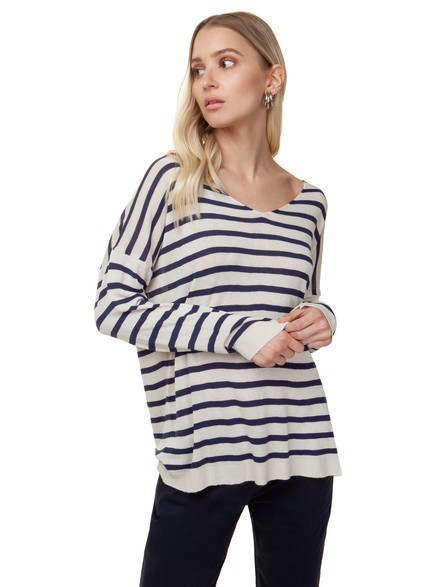 Sweater with stripe
