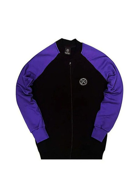 VINYL ART CLOTHING AUTHENTIC JACKET BLACK PURPLE