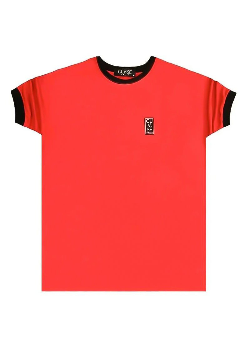 CLVSE SOCIETY RED PATCH T-SHIRT