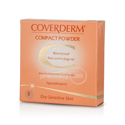 COVERDERM - COMPACT POWDER Dry-Sensitive Skin No3 - 10gr