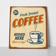 Retro sign coffee a
