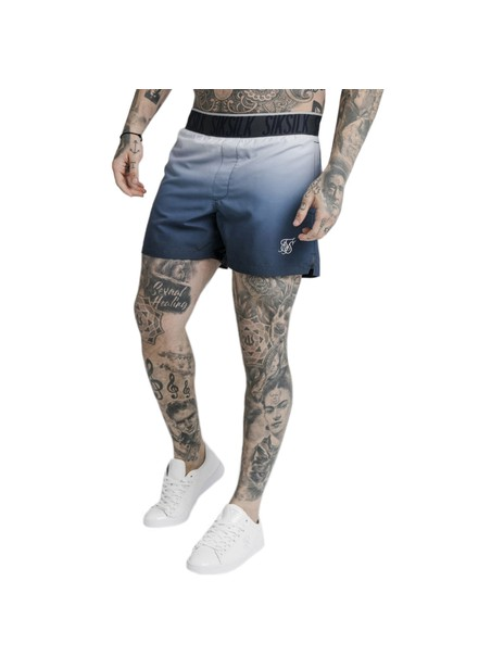 SikSilk Tape Fade Swim Shorts - Navy Lilac Fade