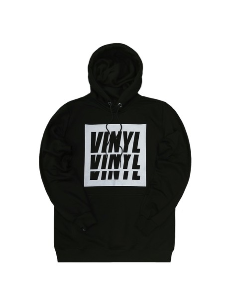 VINYL ART CLOTHING BLACK BASIC HOODIE WITH BOX LOGO