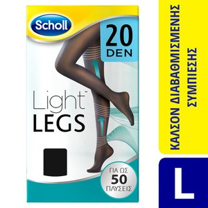 Light legs 20den black large