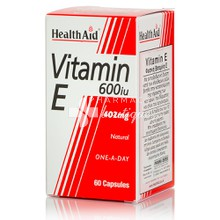 Health Aid Vitamin E - 600iu, 60 caps