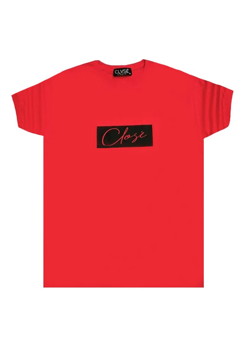 CLVSE SOCIETY RED T-SHIRT 501 WITH WHITE SQUARE