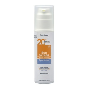 Frezyderm sun screen sport lotion spf20 face   body 150ml