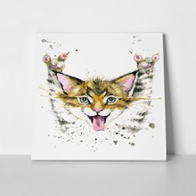 Cute cat watercolor illustration 424985650 a