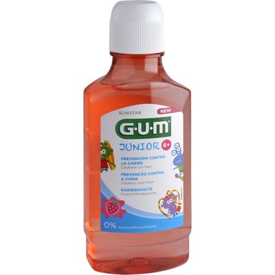 GUM 3022 JUNIOR RINSE 6+ ΦΡΑΟΥΛΑ 300 ML
