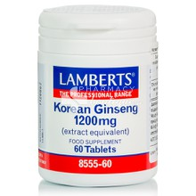Lamberts KOREAN GINSENG 1200mg - Ενέργεια, 60tabs