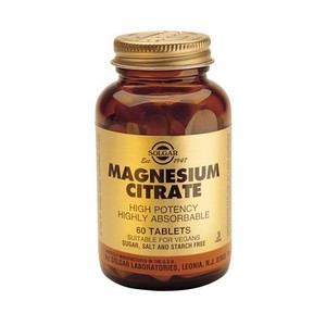 SOLGAR Magnesium citrate 200mg 60tablets