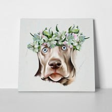 Weimaraner funny flowers 550398160 a