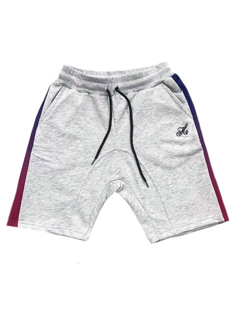 HENRY CLOTHING GREY STRIPE SHORTS