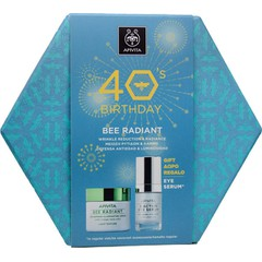 Apivita 40 Years Birthday Set: Bee Radiant Κρέμα Ελαφριάς Υφής, 50ml & Δώρο 5 Action Serum, 15ml