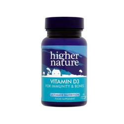 Higher Nature Vitamin D3 (500IU) 60 Κάψουλες