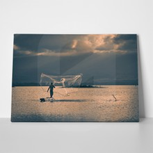 Fisherman throwing net 4 430715287 a