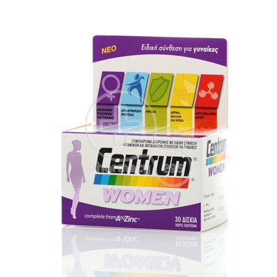 CENTRUM - WOMEN Complete from A to Zinc - 30caps