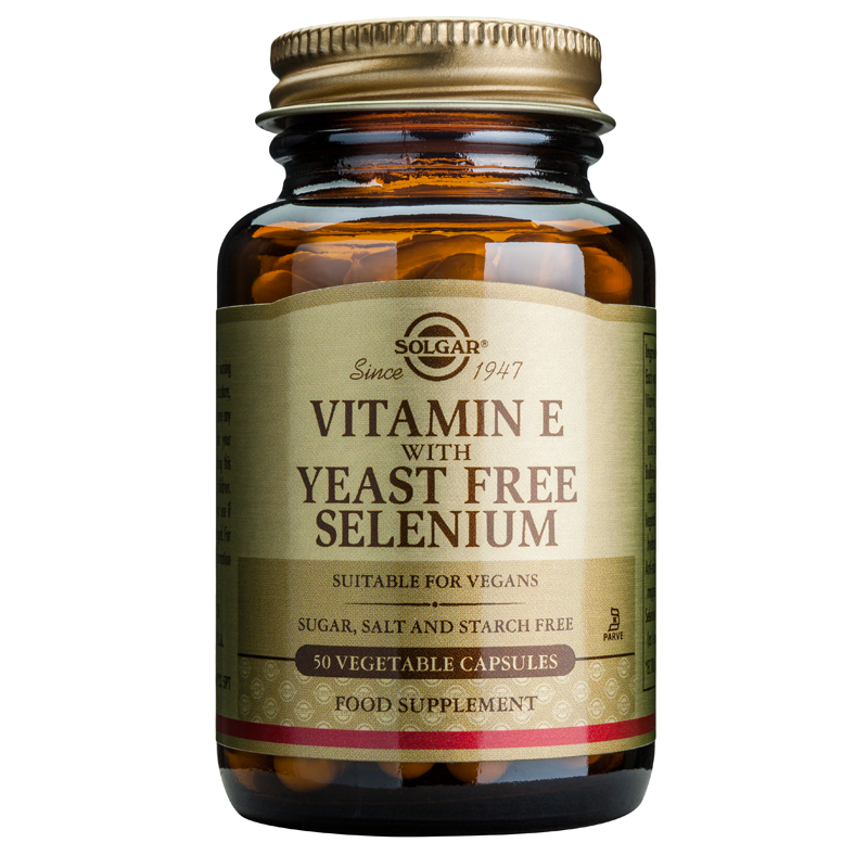 Vitamin E with Yeast - Free Selenium veg.caps