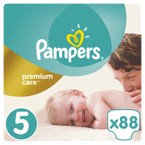 Pampers premium care size 5 88s