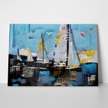 Surrealist paintings yacht city 764358817 a