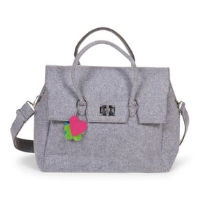 Felt Nursery Bag Grey 45X18X35 + Stroller Hooks
