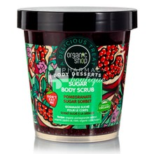 Organic Shop Body Desserts Sugar Body Scrub Pomegranate Sugar Sorbet - Υγρό Απολεπιστικό σώματος με Ρόδι, 450ml