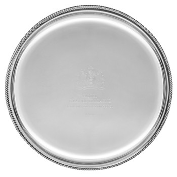 Embossed Silver Tray