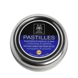 Apivita pastilles for sore throat and cough relief with eucalyptus   propolis 45gr