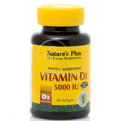 NATURE'S PLUS - Vitamin D3 5000IU - 60 softgels