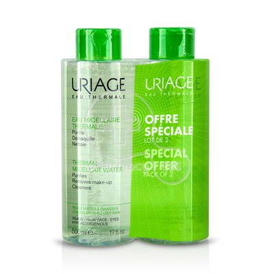 URIAGE - PROMO PACK 2 ΤΕΜΑΧΙΑ Eau Micellaire Thermale - 500ml PM/Oily Skin