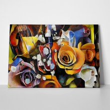 Flowers modern style cubism color 594386927 a