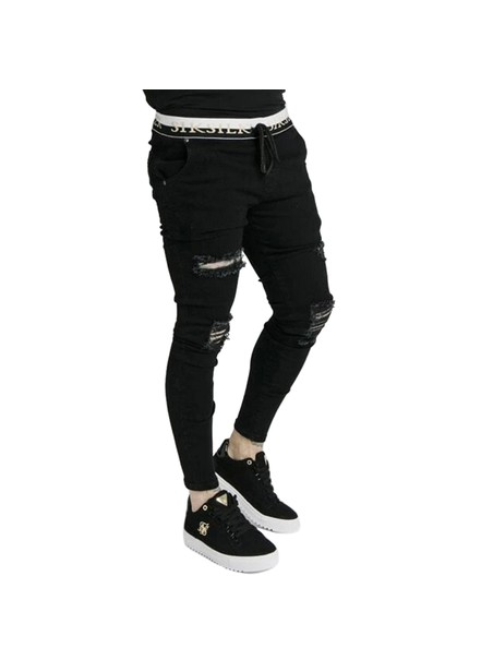 SikSilk Deluxe Low Rise Denim - Black