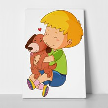 Little boy kissing dog 1030799704 a
