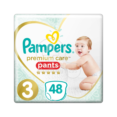 PAMPERS - PREMIUM CARE Pants No3 (6-11kg) - 48 πάνες