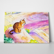 Cute watercolour cat a