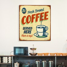 Retro sign coffee