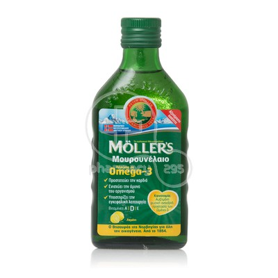 MOLLER'S - Μουρουνέλαιο (Cod Liver Oil) Lemon Flavour - 250ml