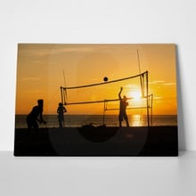 Beach volleyball at sunset 2 1094382749 a