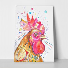Rooster watercolor ball pen paper 419157919 a