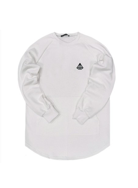 TONY COUPER WHITE CLASSIC CREW NECK