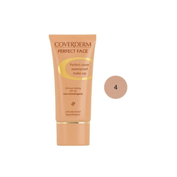 Coverderm Perfect Face SPF20 No 4 Αδιάβροχο Κρεμώδες Make Up 30ml