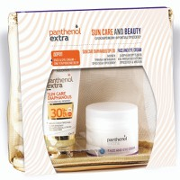 Panthenol Extra Sun Care And Beauty Sun Care Diaphanus Spf30 50ml & Δώρο Face And Eye Cream σε Διάφανο Νεσεσέρ